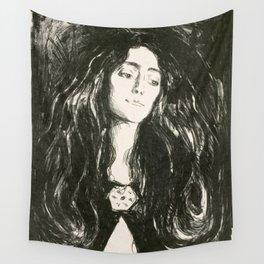 """Edvard Munch """"The Brooch. Eva Mudocci"""", 1903 Wall Tapestry"""