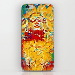 6759s-KMA The Woman in the Stained Glass Sensual Feminine Energy Emerging iPhone Skin
