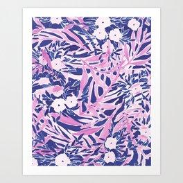 Tropical Daydream Blue Blush Art Print