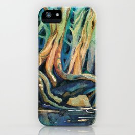 Kingfisher Forest iPhone Case