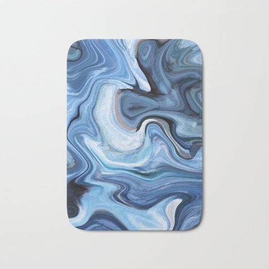 Marble texture print Bath Mat