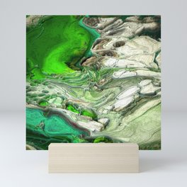 Abstract Voxel Landscape 13 Mini Art Print