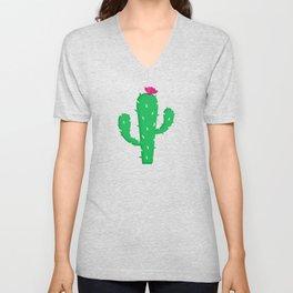 Pattern #13 B: Cactus Unisex V-Neck
