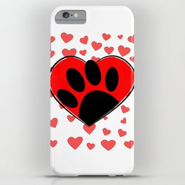 Dog Lover Hearts All Over iPhone Case