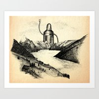 A Visitor From The North Art Print