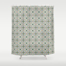 Spanish Tile Pattern – Andalusian ceramic from Seville Shower Curtain