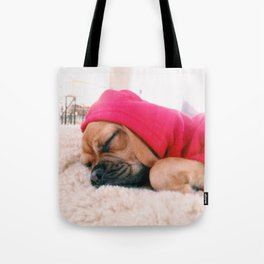 Hank sleeping, softly Tote Bag