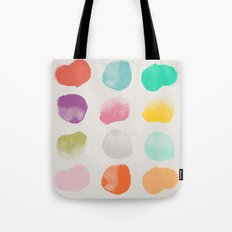 Colored Dots Tote Bag