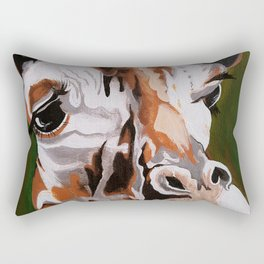 Giraffe, acrylic on canvas Rectangular Pillow