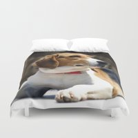 beagle Duvet Covers featuring Beagle by Artistically Home