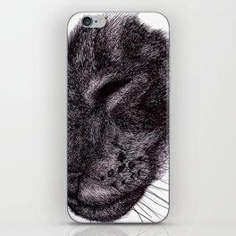 Cat illustration iPhone Skin