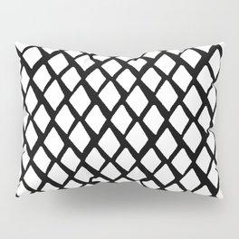 Rhombus White And Black Pillow Sham