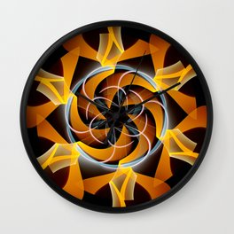 Sun dance, fractal abstract Wall Clock