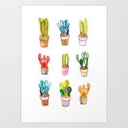 Cactus collection Art Print
