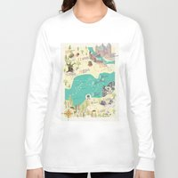 princess bride Long Sleeve T-shirts featuring Princess Bride Discovery Map by Wattle&Daub