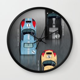 GT40 Le Mans 1966, Finish side by side Wall Clock
