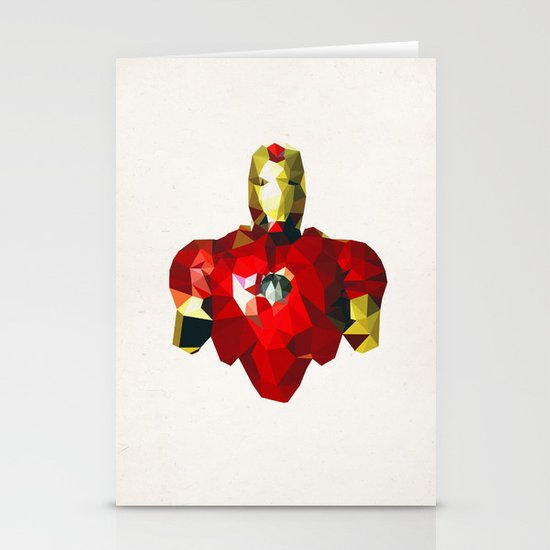 Polygon Heroes - Iron Man Stationery Cards