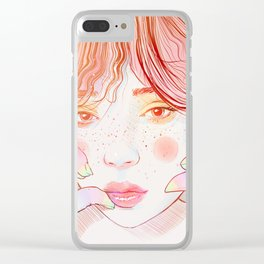 Colorful face Clear iPhone Case