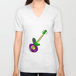 Electric Guitar Unisex V-Neck