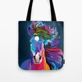 pop art horse Tote Bag