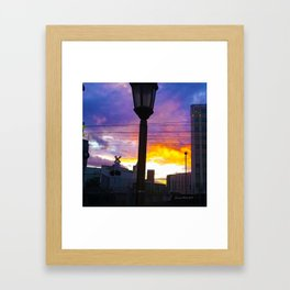 Sunset at Union Station - LA Baby - Jeronimo Rubio Photography 2016 (all over) Framed Art Print