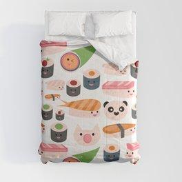 Kawaii sushi white Comforters