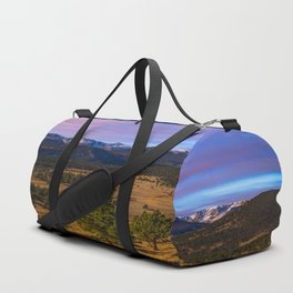 Rocky Mountain High - Moonlight Drenches Colorado Landscape Duffle Bag