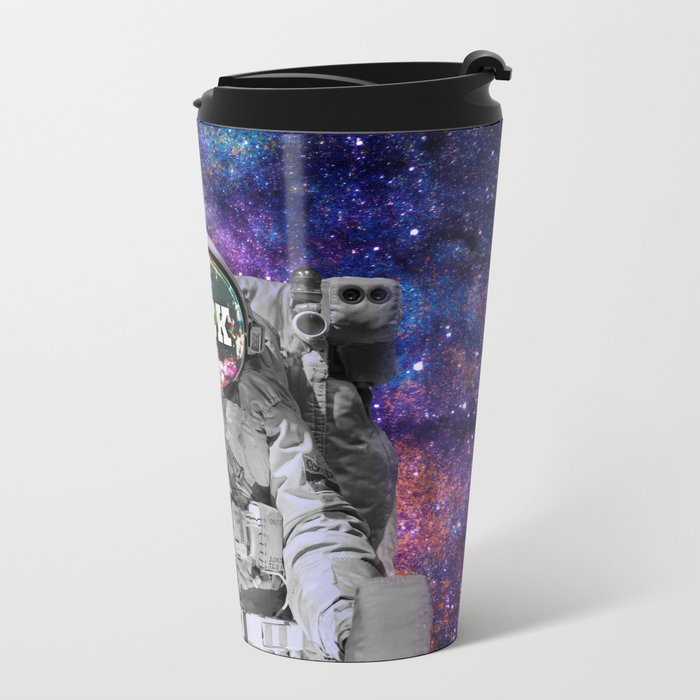 Exploring Space Beauty Metal Travel Mug