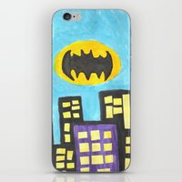 bat iPhone & iPod Skins featuring Bat by Marialaura
