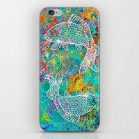 yin yang iPhone & iPod Skins featuring YIN & YANG by AlyZen Moonshadow