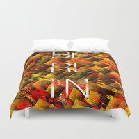 camo Duvet Covers featuring CAMO BERLIN by Chrisb Marquez