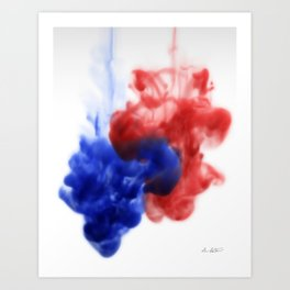 Patriotic Ink Drop Art Print