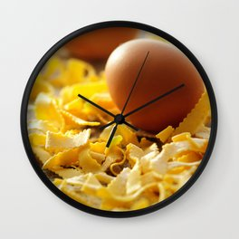 Fresh italian Pasta with egg Wall Clock