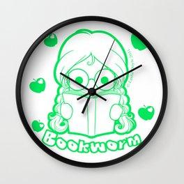 Kawaii Kiddies Cute Bookworm Wall Clock