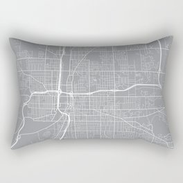 Grand Rapids Map, Michigan USA - Pewter Rectangular Pillow
