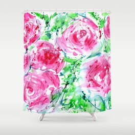 Blooming bouquet #7 || watercolor Shower Curtain