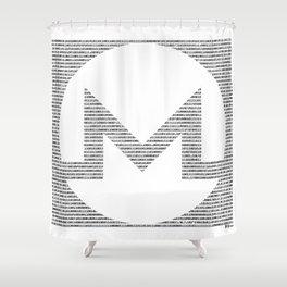 Binary Monero Shower Curtain
