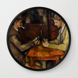 Paul Cézanne - The Card Players - Les Joueurs de Cartes Wall Clock