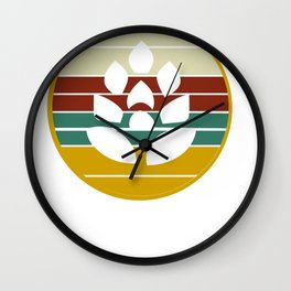 Hops beer garden saying Wall Clock