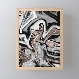 Fluid Kiss #2 #abstract #decor #art #society6 Framed Mini Art Print