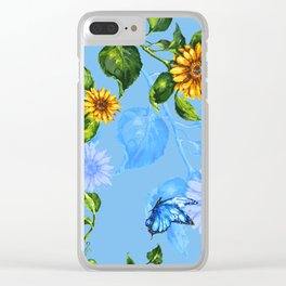 Sunflower's Glory Clear iPhone Case