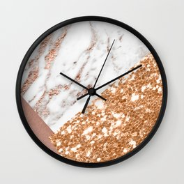 Layers of rose gold Wall Clock