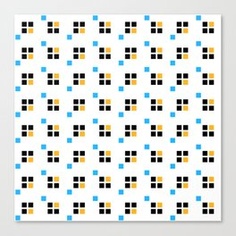 Three color enlarged pixel pattern Canvas Print