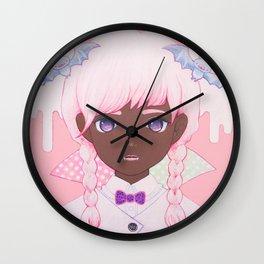 Pastel Vampire Wall Clock