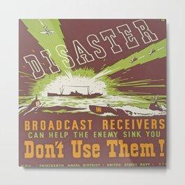 Vintage poster - Disaster Metal Print