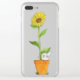 Sunflower Troll Clear iPhone Case