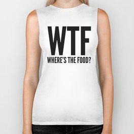 WTF Where's The Food (Black & White) Biker Tank