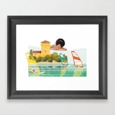 Illustre Conero - Portonovo Framed Art Print