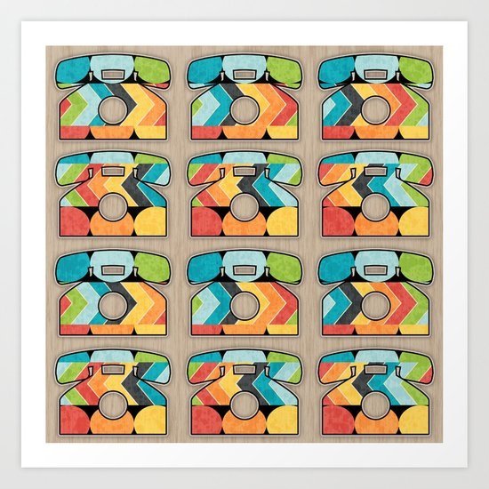 Telephone Call Art Print