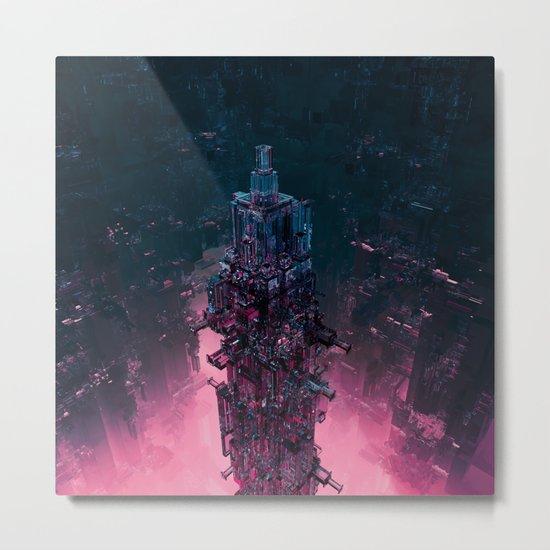 The Technocore / 3D render of futuristic structure Metal Print